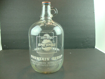 Vintage 1 Gallon Pepsi-Cola Syrup Bottle & Hamilton Oh.