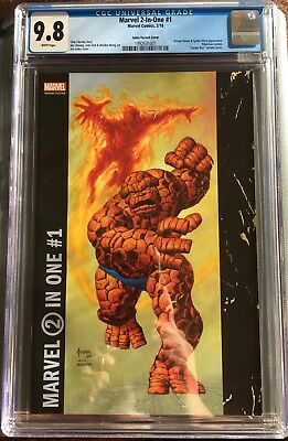 """Marvel 2 In One #1 - Cgc 9.8 Jusko Variant """"coner Box"""" Cover 2018 - 1St Print"""