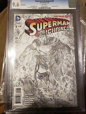 SUPERMAN UNCHAINED #9 1:100 JIM LEE SKETCH VARIANT COVER SCOTT SNYDER NEW 1 cgc