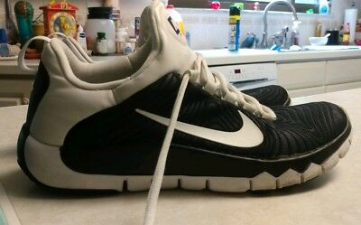 bcfa75094877 MEN S NIKE FREE Trainer LE Paid In Full Black White Gold Size 8.5 ...