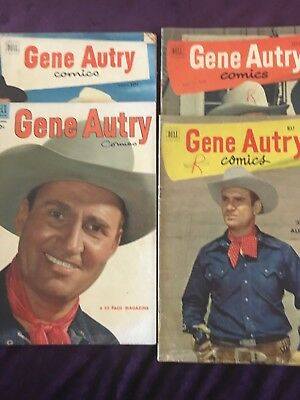 Gene Autry,  by Dell,10c comic book collection, fair ungraded condition