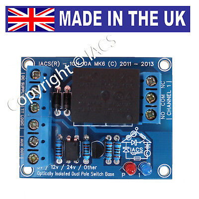 IACS 1 Channel 10A Relay Board 10 Amp SPDT Arduino Raspberry Pi 1CH10AS Optical