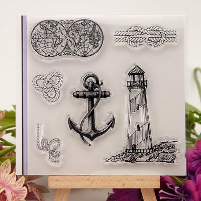 Navy Anchor Lighthouse Transparent Clear Silicone Stamp Seal DIY Scrapbooking