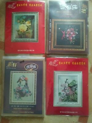 Flowers, Fairy DIY Ribbon Embroidery Kit x 4 Complete Kits