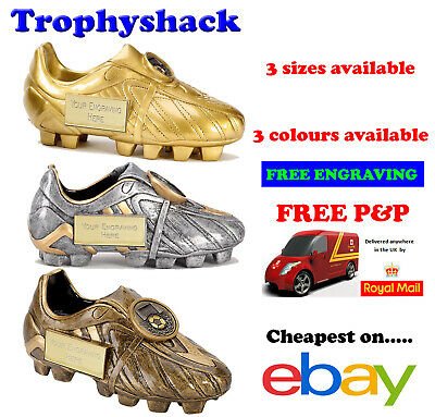 Football Boot Trophy Man of the Match Award 3 sizes & colours FREE ENGRAVING P&P
