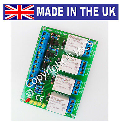 IACS 4 Channel 10A Premium Optical Relay Board SPDT Raspberry Pi 4CHV2EL Arduino