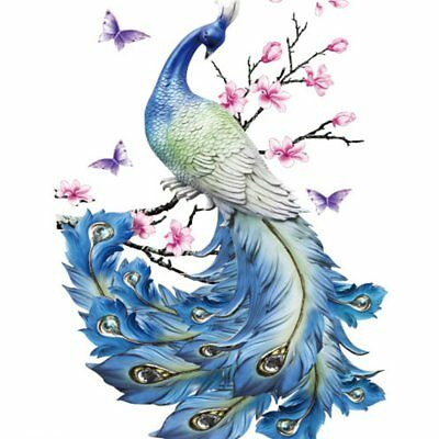 Personality Flash Tatoo Butterfly Peacock Tattoo Temporary Tattoo Stickers @Q