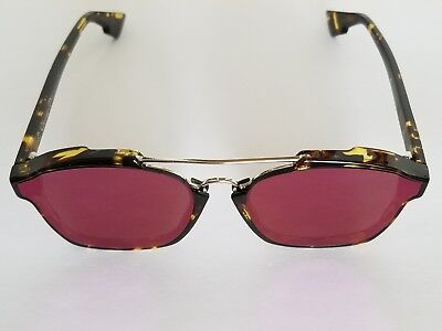 51e466c9e0 Christian Dior Abstract Sunglasses - Havana Frame Violet Mirrored Lenses