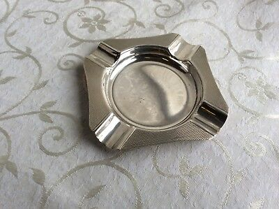Solid Silver ashtray .. hallmarked H Bros.1961 .. 82g