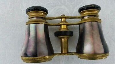 Antique Mother Of Pearl Opera Glasses Ed. Messter