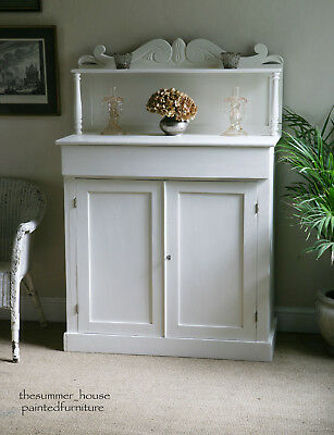 Stunning Antique Shabby Chic Chiffonier Sideboard Painted in Farrow & Ball