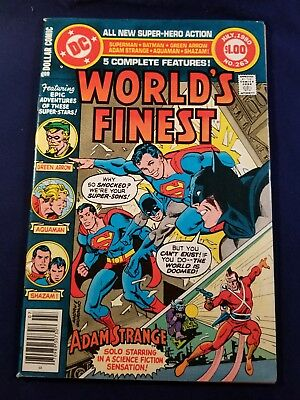 Worlds Finest #263, (1980, Dc): Final Secret Of The Super Sons Aquaman, Shazam@@