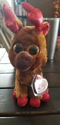 6f3ffc5708d TY BEANIE BOO - MAPLE the Moose (Regular 6 Inch Size)(CANADA ...