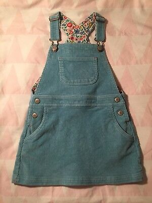 a99537cb1a03 Mini Boden Girls Age 3-4 Cord Dungaree Dress In Turquoise / Blue/green