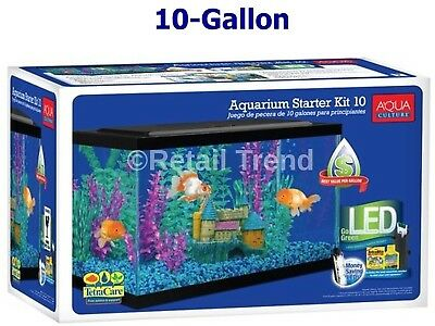 Marina 2.65 Gallon Aquarium Kit Fish Tank Starter Set New Mermaid Theme Purple Fish & Aquariums