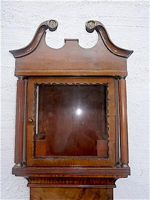 EARLY MAHOGANY  LONGCASE CLOCK  case for a  12x12  inch dial C1840