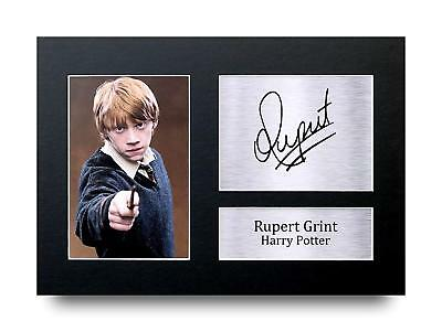Rupert Grint Gift Signed A4 Printed Autograph Print Harry Potter Gifts Photo
