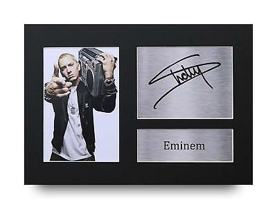 Eminem Gift Signed A4 Printed Autograph Print Slim Shady Music Gifts Photo