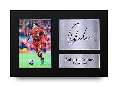 Roberto Firmino Gift Signed A4 Printed Autograph Print Liverpool Gifts Photo