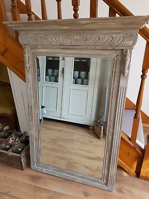 Antique French MIRROR Painted