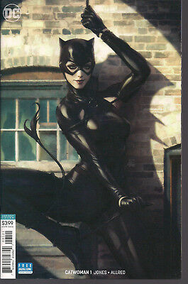 Catwoman 1 VF+ DC Comics 2018 BEAUTIFUL Stanley Artgerm Lau Variant Cover