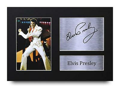 Elvis Presley Gift Signed A4 Printed Autograph Print Music Gifts Photo Picture