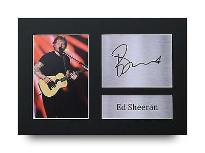 Ed Sheeran Gift Signed A4 Printed Autograph Print Music Gifts Photo Picture