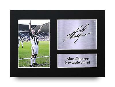 Alan Shearer Gift Signed A4 Printed Autograph Print Newcastle United Gifts Photo