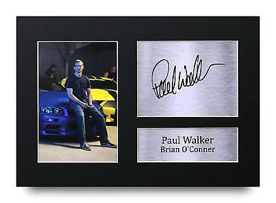 Paul Walker Gift Signed A4 Printed Autograph Print Fast & Furious Gifts Photo
