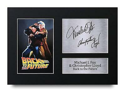 Back to the Future Gift Signed A4 Printed Autograph Print Film 80s Gifts Photo
