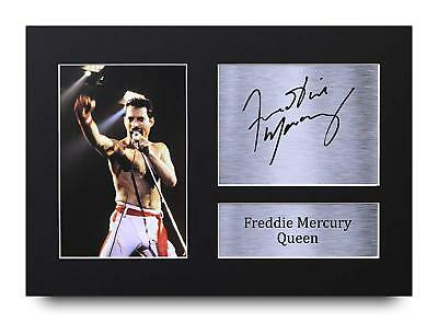 Freddie Mercury Gift Signed A4 Printed Autograph Print Queen Music Gifts Photo