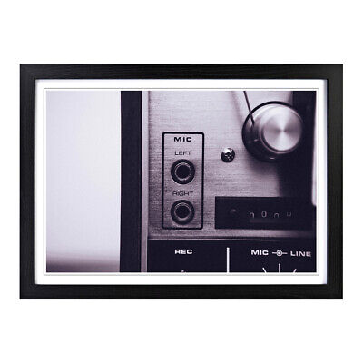Framed Picture Print A2 Vintage Music Player 5 Music Musical Instrument Wall Art