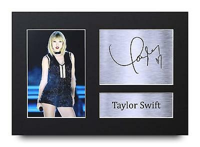 Taylor Swift Gift Signed A4 Printed Autograph Print Music Gifts Photo Picture