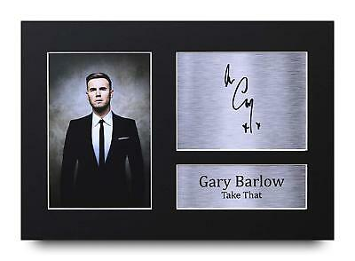 Gary Barlow Gift Signed A4 Printed Autograph Print Take That Music Gifts Photo