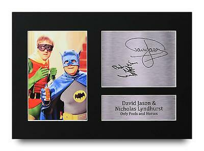 David Jason & Lyndhurst Gift Signed A4 Printed Autograph OFAH Print Gifts Photo