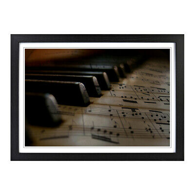 Framed Picture Print A2 Vintage Piano 2 Music Musical Instrument Wall Art