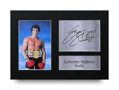 Sylvester Stallone Gift Signed A4 Printed Autograph Rocky Gifts Film Print Photo