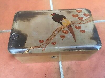 Antique Japanese Laquer Box, Circa 1930's
