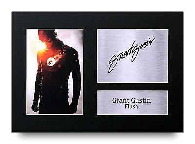Grant Gustin Gift Signed A4 Printed Autograph The Flash Gifts Film Print Photo