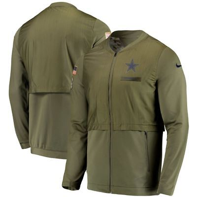 Dallas Cowboys Nike Men s 2018 Salute to Service Elite Hybrid Full Zip  Jacket d52ad421c