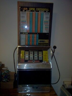 Bally Super Continental 25 cent Quarter Slot Machine model 891 SC-18
