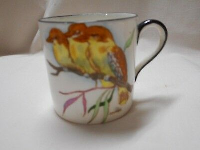 Vintage 1920S China Cup With 3 Kookaburra  By J.a.crisp