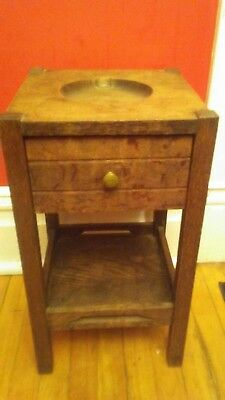 Antique mission style furniture Oak Humidor stand