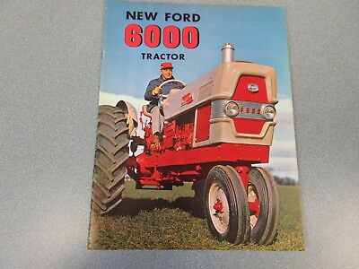 Ford 6000 Farm Tractor Brochure       Very Neat           lw
