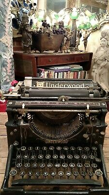 Antique Underwood Cast Iron Art Deco Typewriter