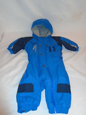 452a83a237ae COLUMBIA INFANT BABY Blue Winter Fleece Snow Suit with Fur size 6 ...