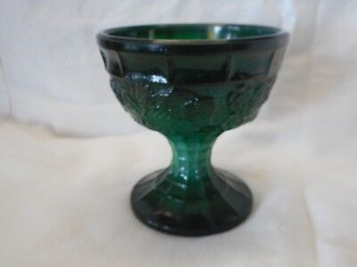 Vintage 1930S Art Deco Czech Bohemian Malachite Glass Strawberry  Flower Leaf