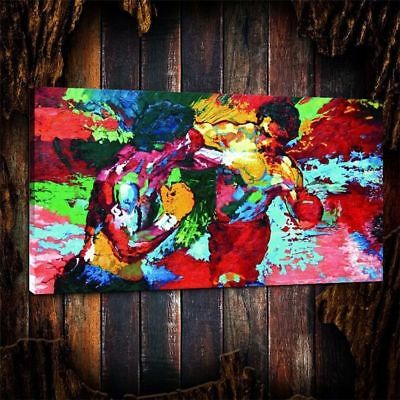 Leroy Neiman Rocky vs Apollo,HD Canvas Print home decor wall art painting,24×48""