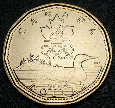 RCM - 2004 - $1 - Olympic - Lucky Loonie - BU ( From a new roll )