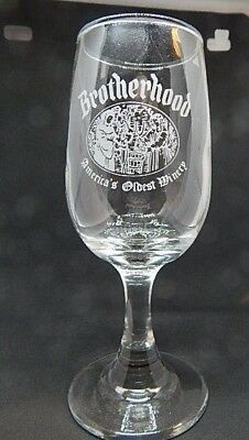 Brotherhood Winery Wine Glass ( America's Oldest Winery)